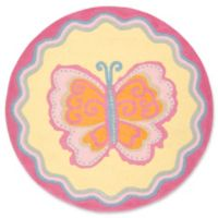 Safavieh Kids® Great Butterfly 4' Round Area Rug in Pink