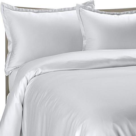 Pure Beech® Modal Sateen Duvet Cover Set in White - Bed Bath & Beyond : sateen quilt - Adamdwight.com