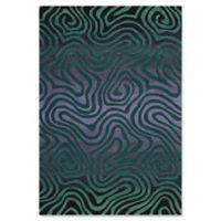 Nourison Contour 3'6 x 5'6 Handcrafted Area Rug in Smoke/Teal