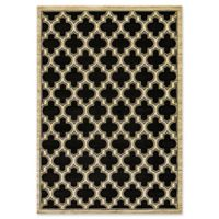 Dynamic Rugs® Yazd Classic Tiles 2' x 3'6 Area Rug in Black