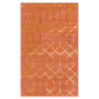 Marilyn Monroe® Trellis Glam Coral/gold 2' X 3' Powerloomed Area Rug in Coral
