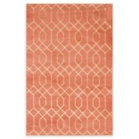 Marilyn Monroe® Trellis Glam Coral/gold 4' X 6' Powerloomed Area Rug in Coral
