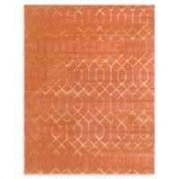 Marilyn Monroe® Trellis Glam Coral/gold 8' X 10' Powerloomed Area Rug in Coral
