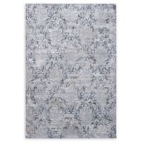 "Dynamic Rugs® Damask 6'7"" X 9'6"" Powerloomed Area Rug in Cream/grey"