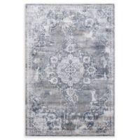 "Dynamic Rugs® Bazaar 6'7"" X 9'6"" Powerloomed Area Rug in Cream/grey"