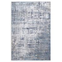 "Dynamic Rugs® Oslo 6'7"" X 9'6"" Powerloomed Area Rug in Grey/blue"