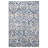 "Dynamic Rugs® Kirman 6'7"" X 9'6"" Powerloomed Area Rug in Grey/blue"