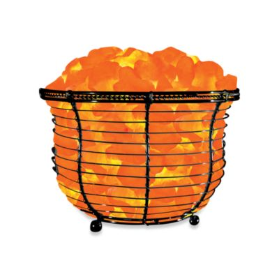 Himalayan glow ionic crystal salt basket tall lamp