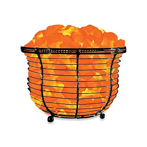 image of himalayan glow ionic crystal salt basket tall lamp bed bath and beyond lighting