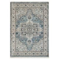 "Dynamic Rugs® Heriz 7'10"" X 10' Powerloomed Area Rug in Light Blue/cream"