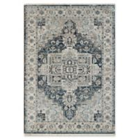 "Dynamic Rugs® Heriz 7'10"" X 10' Powerloomed Area Rug in Dark Blue/cream"
