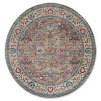 Safavieh Merlot Felix 6'7 Round Area Rug in Grey