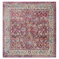 Safavieh Merlot Felix 6'7 Square Area Rug in Red