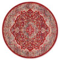 Safavieh Merlot Caleb 6' Round Area Rug in Red