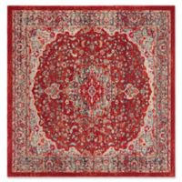 Safavieh Merlot Caleb 6' Square Area Rug in Red