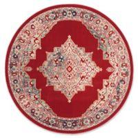 Safavieh Merlot Conrad 6' Round Area Rug in Red
