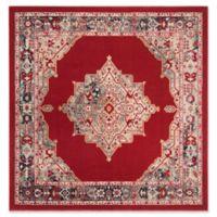 Safavieh Merlot Conrad 6' Square Area Rug in Red