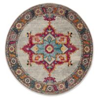 Safavieh Merlot Fletcher 6'7 Round Area Rug in Cream