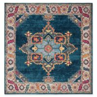 Safavieh Merlot Fletcher 6'7 x 6'7 Power-Loomed Area Rug in Blue