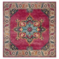 Safavieh Merlot Fletcher 6'7 Square Area Rug in Fuchsia
