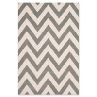 Safavieh Kids® Wide Chevron 4' x 6' Rug in Grey
