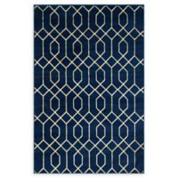Marilyn Monroe® Trellis Glam Navy Blue/Gold 4' X 6' Powerloomed Area Rug in Navy/Gold