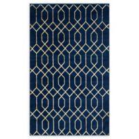 Marilyn Monroe® Trellis Glam Navy Blue/Gold 5' X 8' Powerloomed Area Rug in Navy/Gold