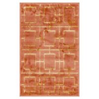 Marilyn Monroe® Deco Glam Coral 2' X 3' Powerloomed Area Rug in Coral