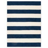 Safavieh Kids® Big Stripe 5' x 7' Rug in Navy