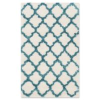 Safavieh Kids® Trellis Sketch Shag 3' x 5' Area Rug in Ivory/Blue