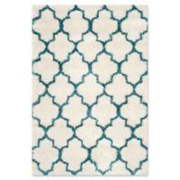 Safavieh Kids® Trellis Sketch Shag 4' x 6' Area Rug in Ivory/Blue