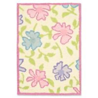 Safavieh Kids Flowers 2' x 3' Accent Rug in Ivory/Pink