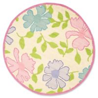 Safavieh Kids Flowers 6' Round Area Rug in Ivory/Pink