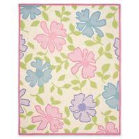 Safavieh Kids Flowers 8' x 10' Area Rug in Ivory/Pink