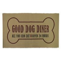 """P.B. Paws by Park B. Smith® """"Good Dog Diner"""" Pet Mat in Linen"""