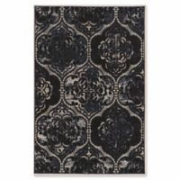 Linon Home Aristocrat Arthur 2' x 3' Accent Rug in Navy