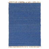 Linon Home Zara 5' x 7'6 Area Rug in Blue