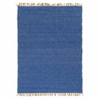 Linon Home Zara 8' x 10' Area Rug in Blue