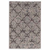 Linon Home Aristocrat Clara 2' x 3' Accent Rug in Grey