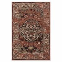 Linon Home Aristocrat Nain 5' x 7'6 Area Rug in Red