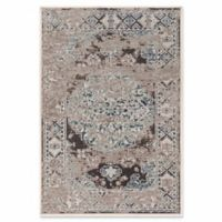Linon Home Aristocrat Nain 5' x 7'6 Area Rug in Grey