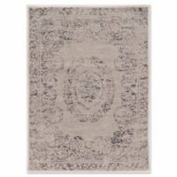 Linon Home Panache Isfahan 5' x 7' Area Rug in Ivory
