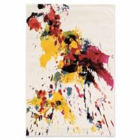 Linon Home Weho Color Splash 2' x 3' Accent Rug in Ivory