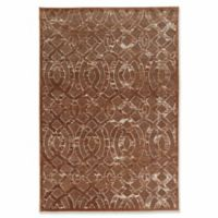 Linon Home Plateau Trellis 2' x 3' Accent Rug in Brown/Beige