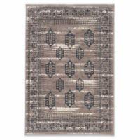 Linon Home Aristocrat Hamadan 2' x 3' Accent Rug in Grey