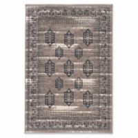 Linon Home Aristocrat Hamadan 5' x 7'6 Area Rug in Grey