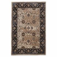 Linon Home Aristocrat Isfahan 9' x 12' Area Rug in Navy