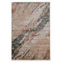 Linon Home Techtonics Marble Rug in Teal