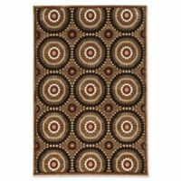 Linon Home Plateau Cylinders 2' x 3' Accent Rug in Brown