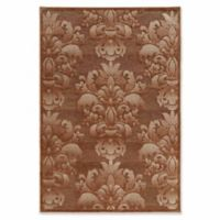 Linon Home Plateau Medallions 5' x 7'6 Area Rug in Brown